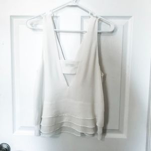Parker Tops - While Ruffle Tank